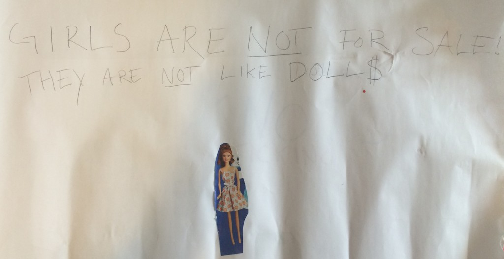 Girls are not for sale - they are not like dolls