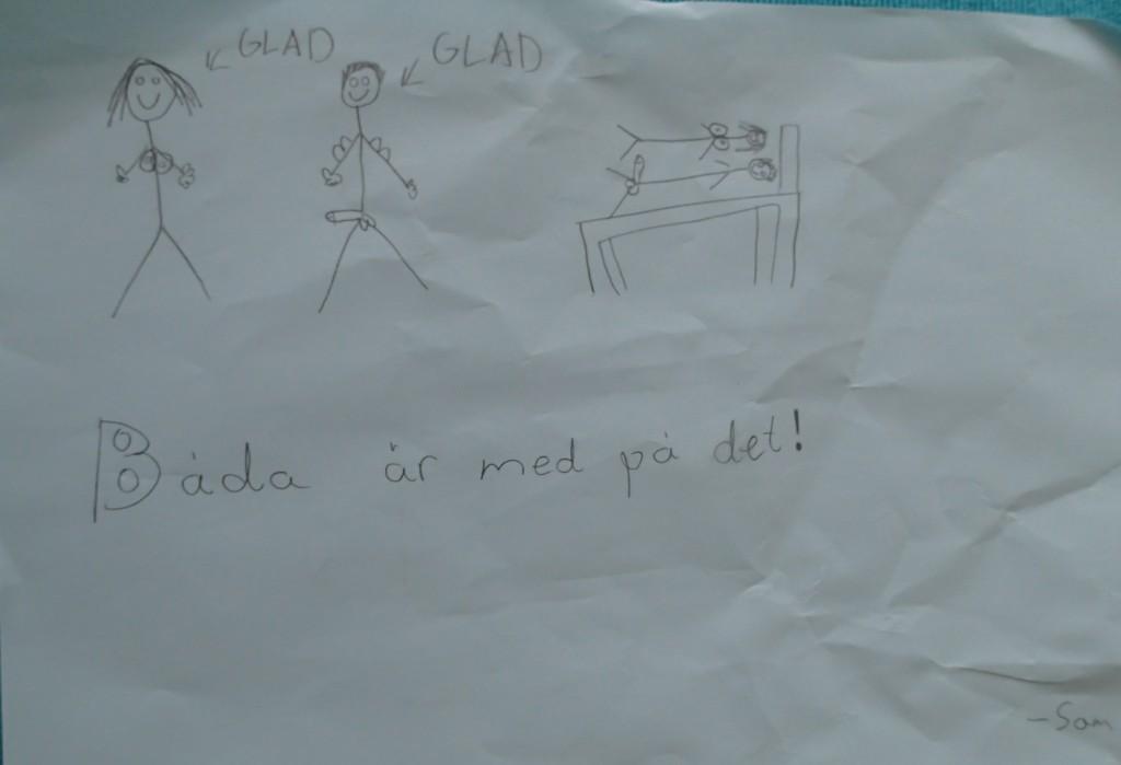 Sam, elev på NTI, satt och ritade denna slående teckning under diskussionerna huruvida prostitution är sex på lika villkor eller inte. Bra gjort Sam!