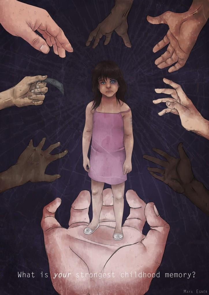 Maya Egnér_ES2B Trafficking Affisch