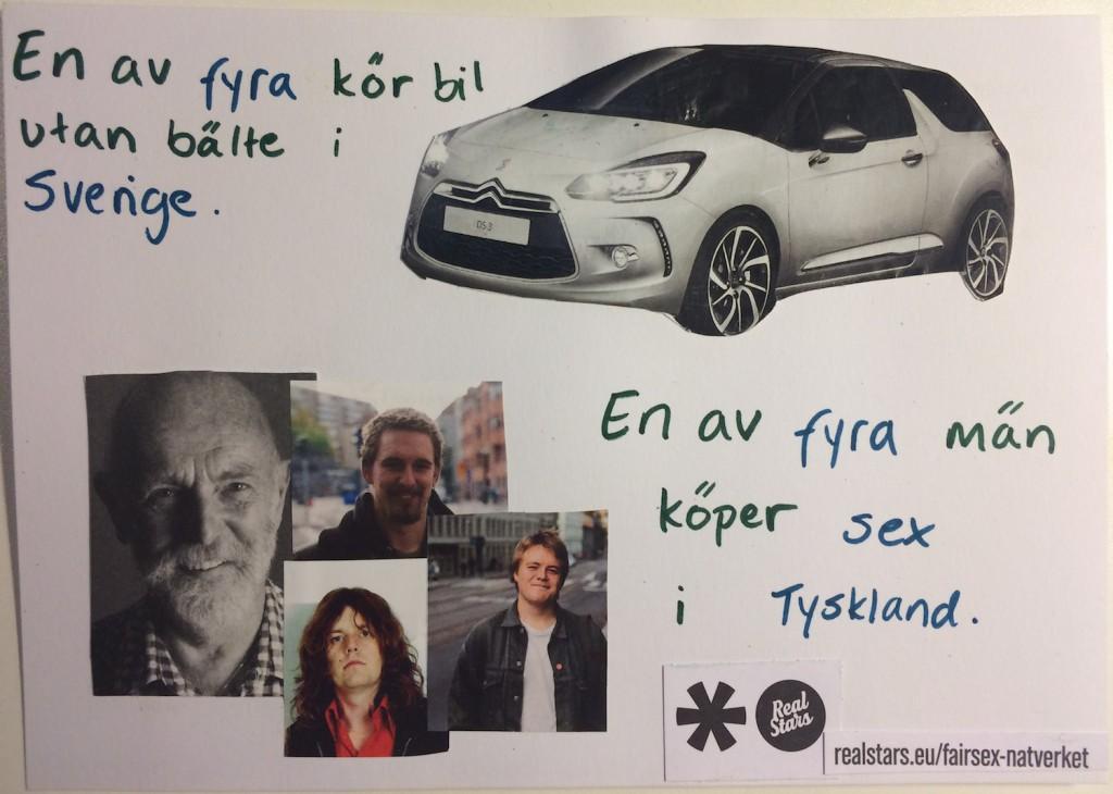 En av fyra kör bil utan bälte i Sverige - En av fyra män köper sex i Tyskland