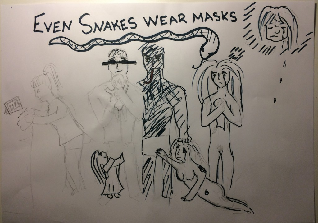 Even snakes wear masks