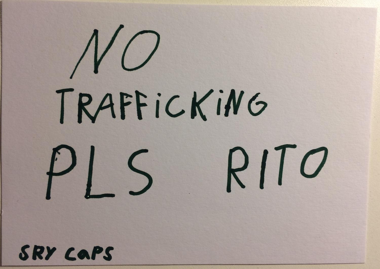 No Trafficking