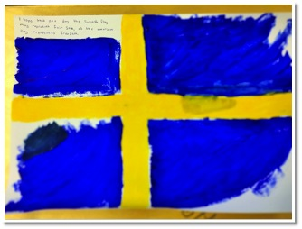 """I wish that one day the Swedish Flag may represent Fair Sex as the American Flag represents freedom"""