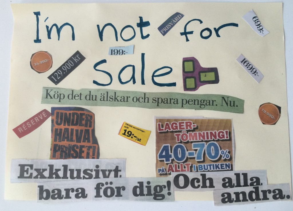 I'm not for sale