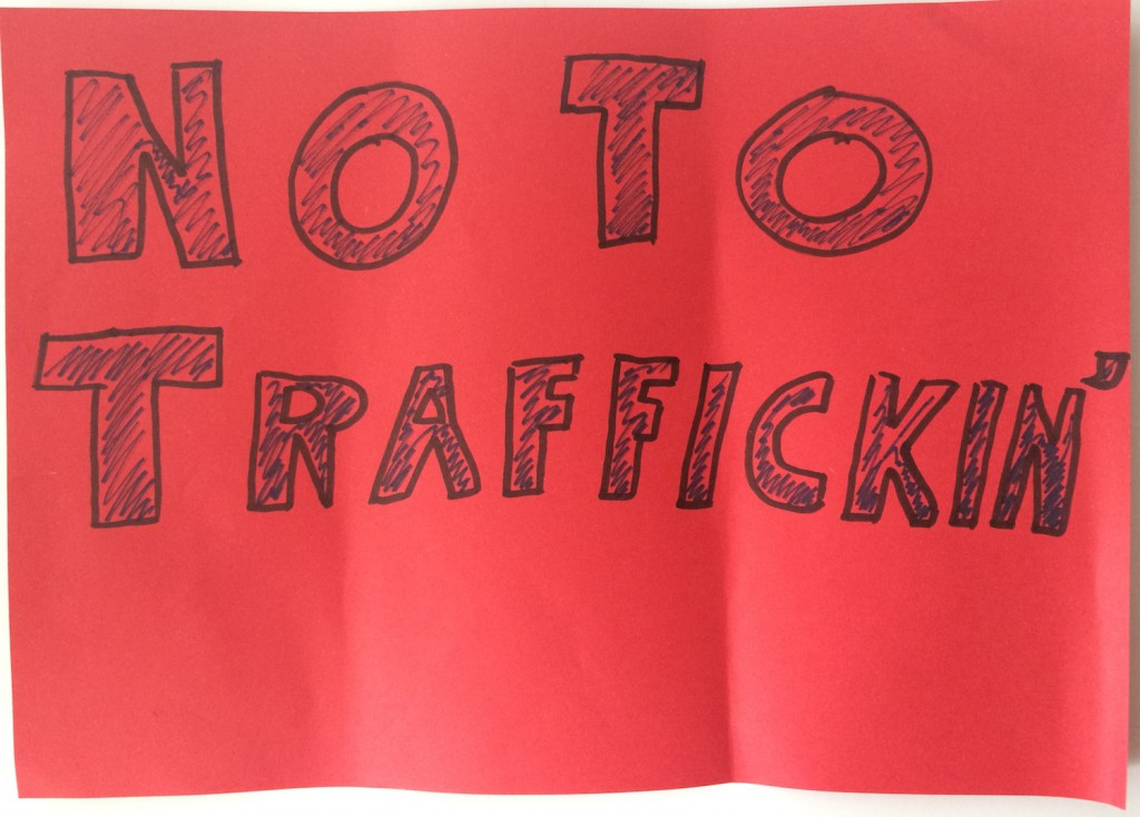 No to trafficking
