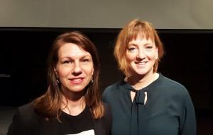 Malin Roux Johansson med kommunalråd Marina Johansson